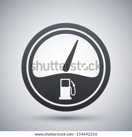 Vector Images, Illustrations and Cliparts: Vector fuel gauge