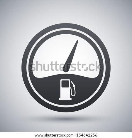 Meter Icon Vector Vector Fuel Gauge Icon