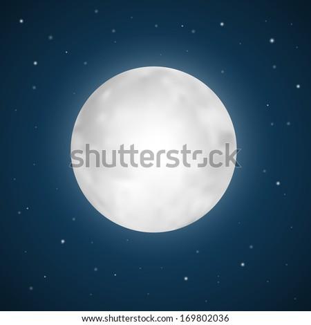 vector full moon illustration