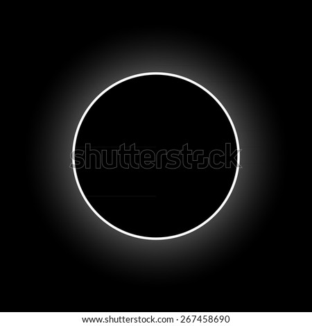 Vector full solar eclipse