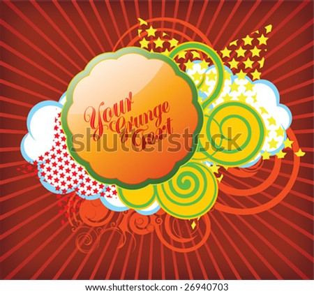 funky wallpaper. stock vector : Vector funky