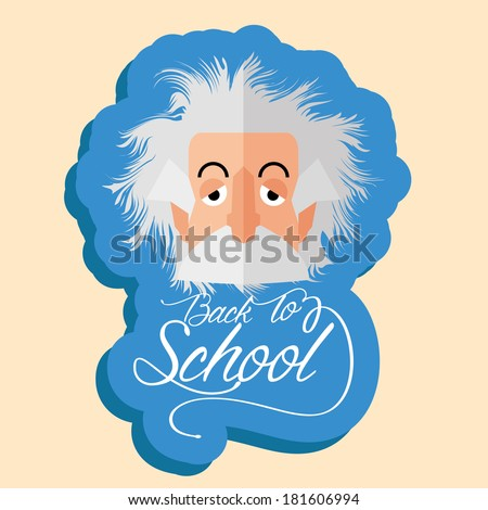 vector funny albert einstein