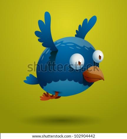 vector funny bird 8