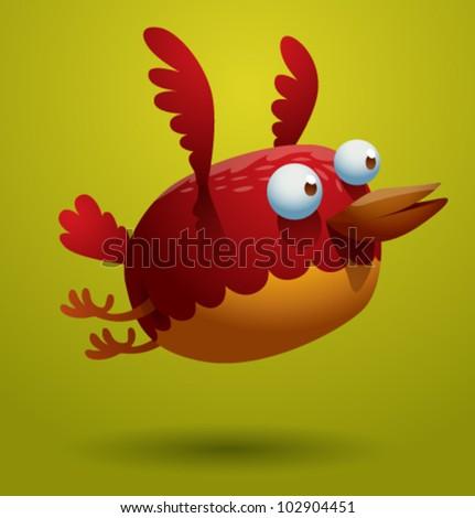 vector funny bird 7