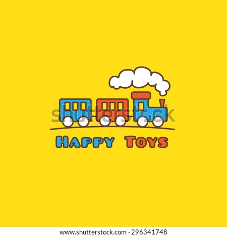 vector funny cartoon toyshop