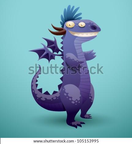 vector funny dragon 4