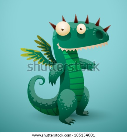 vector funny dragon 3