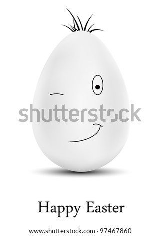 vector funny egg  dedicated to
