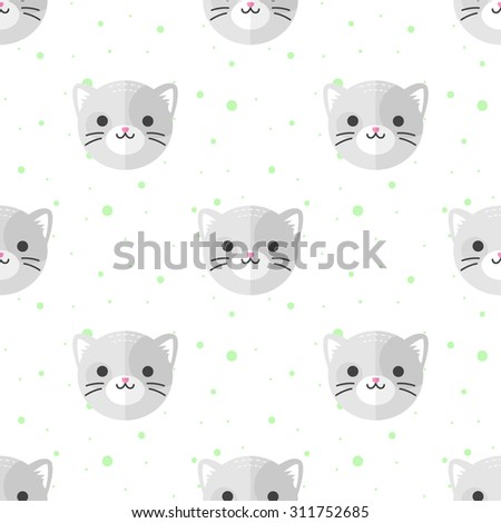 vector funny flat cartoon cat
