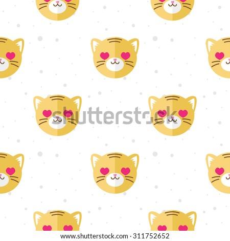 vector funny flat cartoon tiger