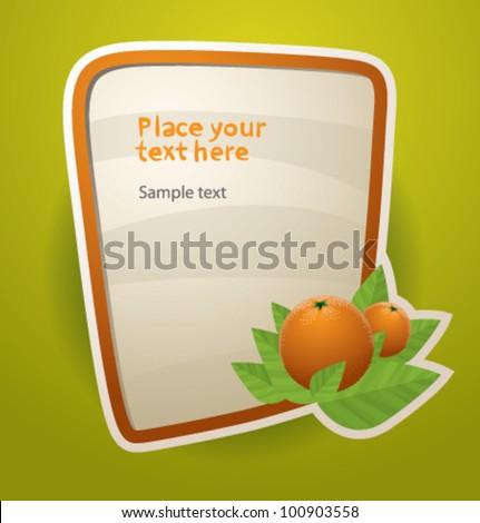 vector funny fruit banner 2 orange