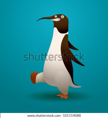vector funny penguin 3