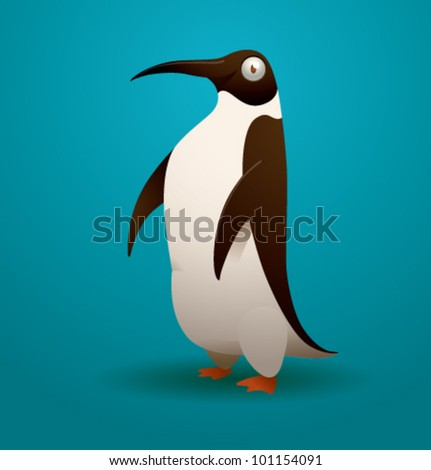 vector funny penguin 8