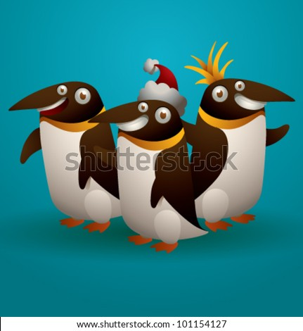 vector funny penguin 4