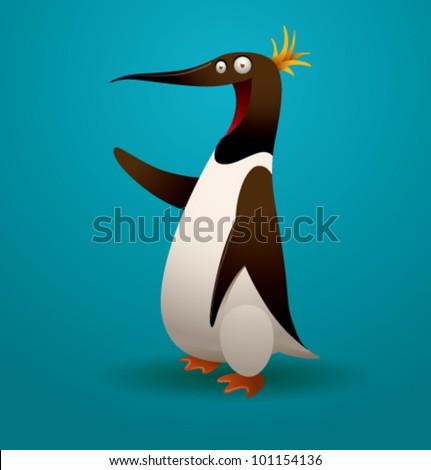 vector funny penguin 5
