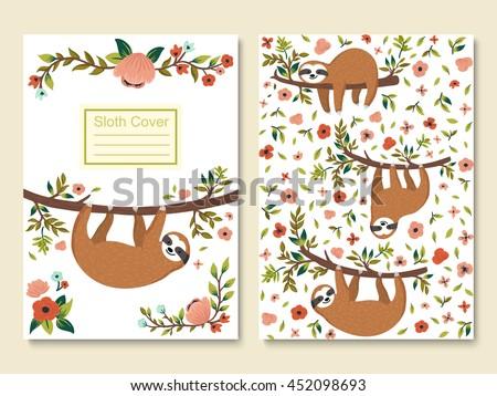 sloth vector illustration download free vector art stock graphics