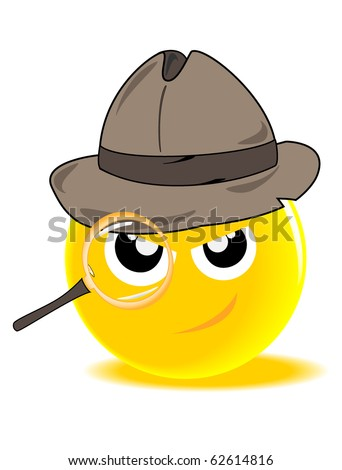 vector funny yellow ball the detective