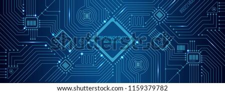 vector futuristic circuit board