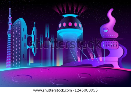 vector futuristic city on other