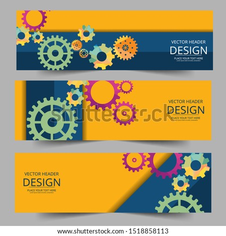 Vector futuristic technology, 3d  gear wheel . Illustration hi-tech, engineering, digital telecoms concept. With space for content, web- template, business tech presentation