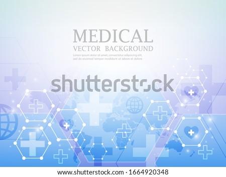 vector futuristic wallpaper.abstract medical concept.