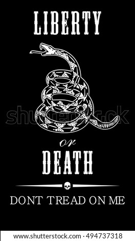 vector gadsden flag depicting a