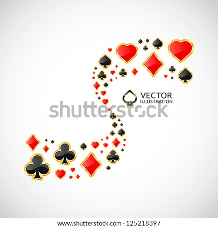 Vector gambling composition. Abstract background.