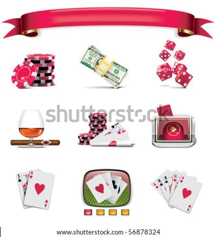 Vector gambling icon set. Part 1 (on white)