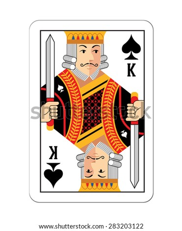 vector game card king