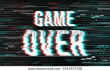 Vector Pixel Game Over Screens for Video Games - Download Free