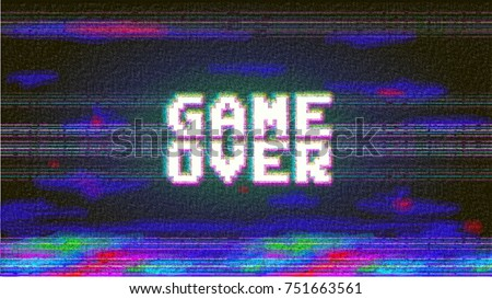 vector game over phrase in