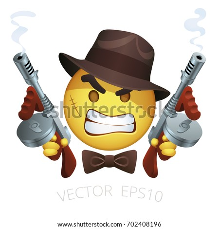 vector gangster smiley with a