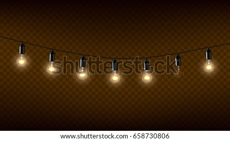 vector garland of lamps on