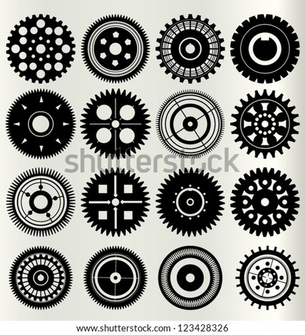 Vector gear and cogwheel set