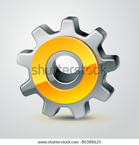 vector gear as configuration icon, 10 eps - stock vector