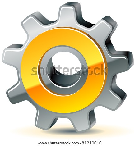 vector gear as preferences icon, 10 eps