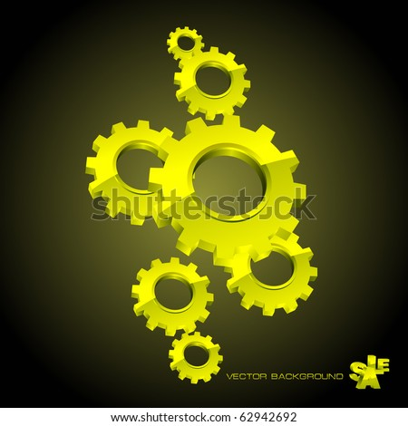 Vector gear background.