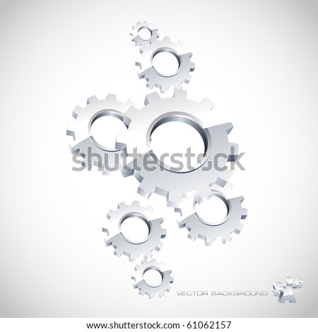 Vector gear background. Abstract illustration.