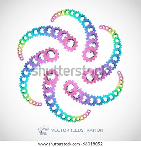 Vector gear illustration.