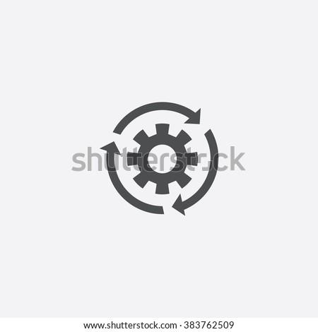 Vector gear reload Icon