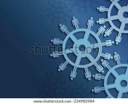 vector gears and work concept
