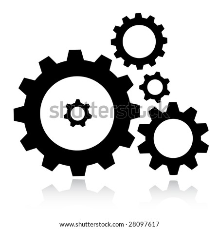 Vector gears icon