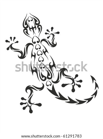 06a1f0a98 Vector Images, Illustrations and Cliparts: vector gecko tattoo isolated on  withe background | Hqvectors.com