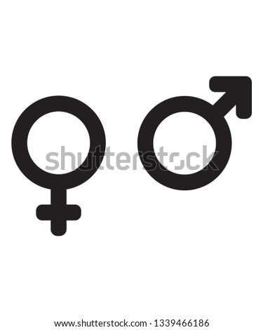 Vector gender icons.