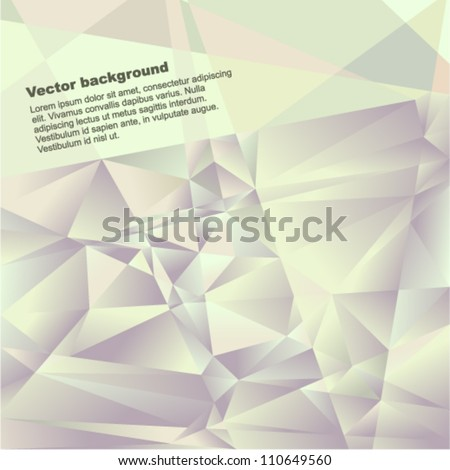 Vector geometric background - futuristic pattern with many brilliant triangles