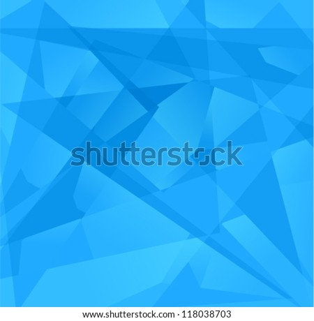 Vector geometric background - futuristic pattern with many glass triangles