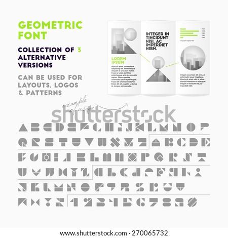 vector geometric font