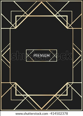 vector geometric frame in art
