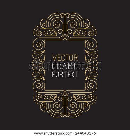 vector geometric frame with