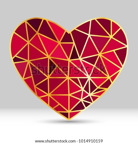 vector geometric heart shape